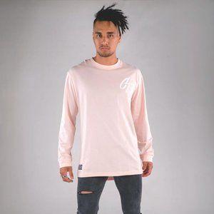 Cuzy T Men's Pink Long Sleeve Iconic T-Shirt